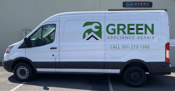 green service van
